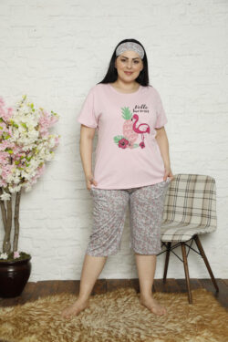 Γυναικεία Κάπρι Πυτζάμα Hello Summer Pink