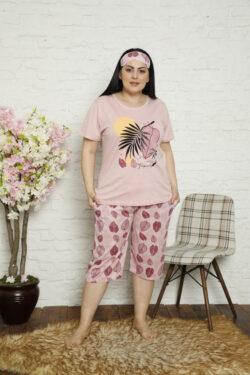 Γυναικεία Κάπρι Πυτζάμα Pink Tropical